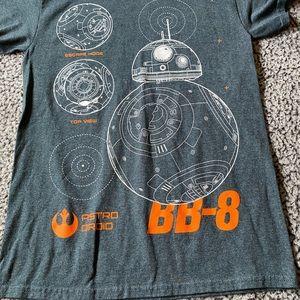 Star Wars Shirts - Star Wars BB-8 size small t-shirt grey